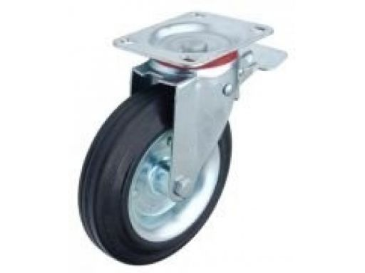 Kółko koła z hamulcem do wózka 200mm 300kg, 2szt