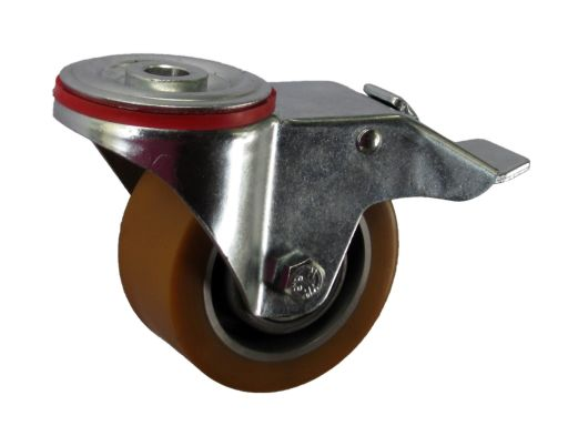 Koło z hamulcem fi 100 mm z otworem m12 180 kg