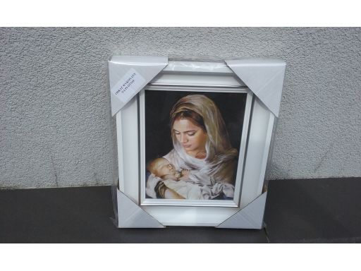 Obraz matka boska z dzieciątkiem płótno grawer