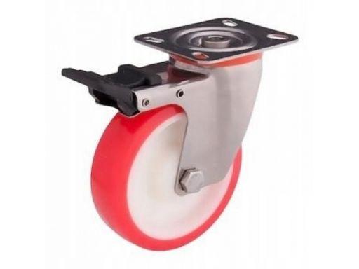Kółka obrotowe hamulec fi 100 mm 220 kg nierdzewne