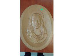 Płaskorzeźba jezus drewno przecena wyprzedaż