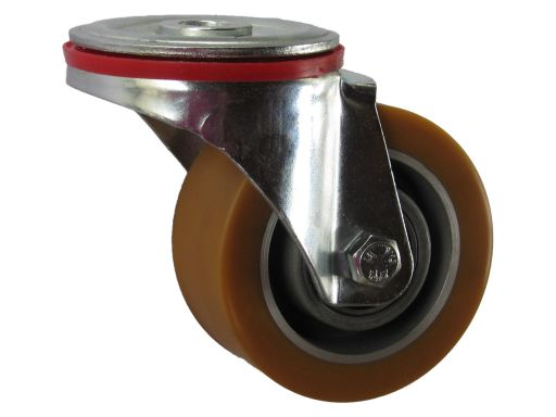 Koło obrotowe fi 100 mm z otworem m12 180 kg