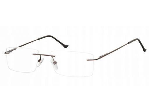 Bezramkowe okulary oprawki okularowe unisex brąz