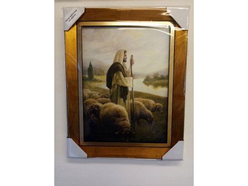 Obraz jezus pasterz 50x40 płótno grawer gratis