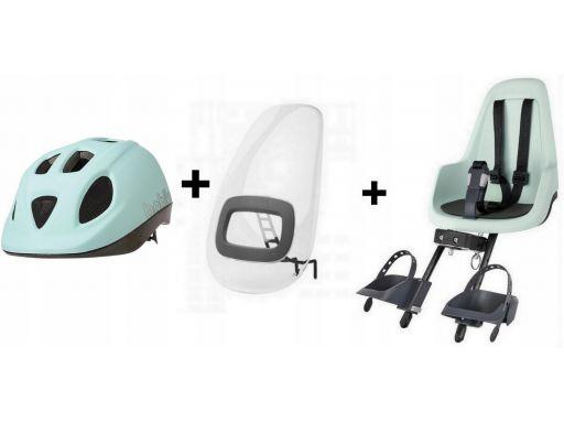 Fotelik rowerowy go mini 9-15kg przód+osłona+kask