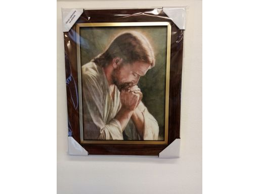 Obraz jezus modlący płótno grawer gratis