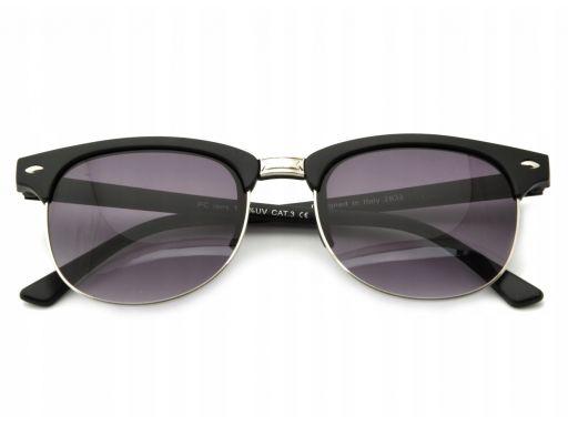 Okulary półramki przeciwsłoneczne czarne unisex