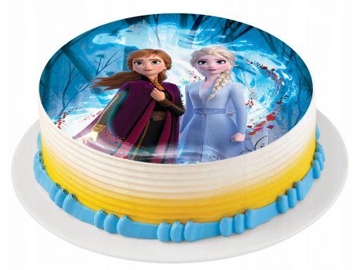 Bardzo gruby opłatek na tort kraina lodu 2 ii 20cm