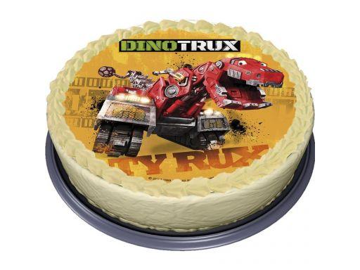 B.gruby opłatek na tort dinotrux dinozaur 20 cm