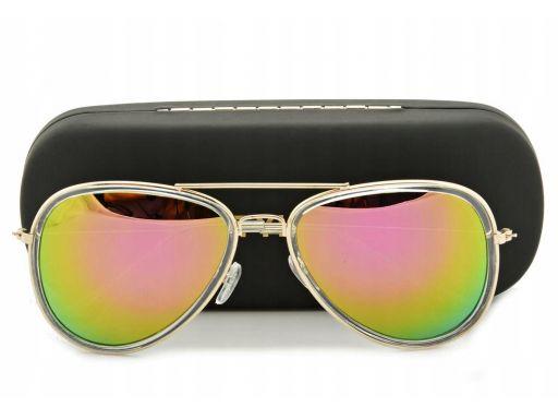 Okulary przeciwsłoneczne pilotki unisex lustra