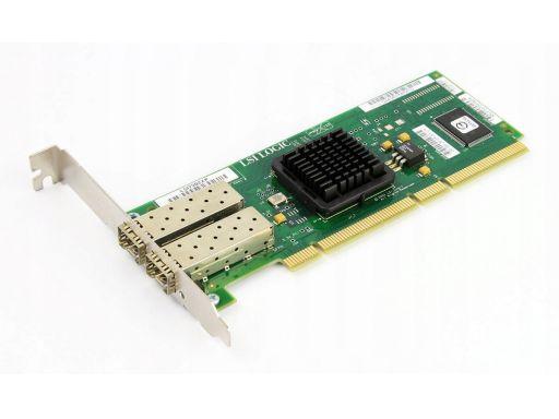 Lsi 2gb dual port fc adapter pci-x lsi7202xp