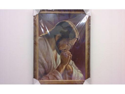 Obraz chrystus modlący frasobliwy tanio gratis