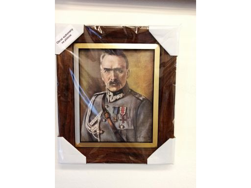 Portret józef piłsudski unikat płótno grawer