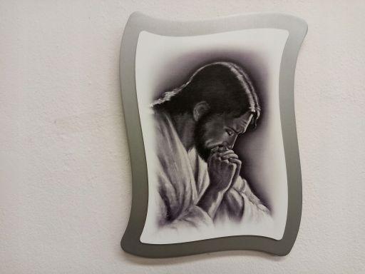 Obraz chrystus modlący frasobliwy grawer gratis
