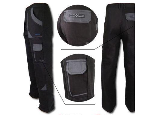 Spodnie robocze monterskie do pasa 100% bawełna 58