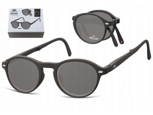 Przyciemniane składane okulary do czytania plusy