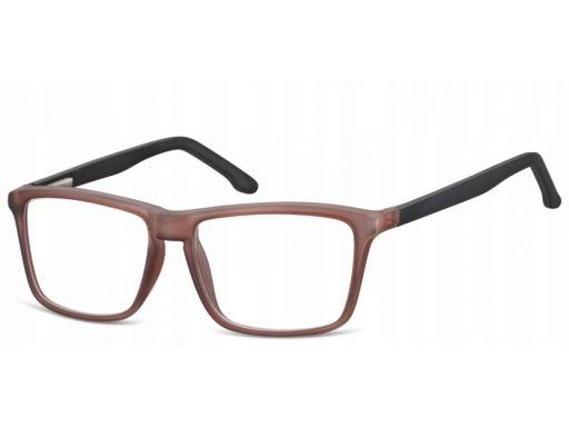 Zerówki okulary oprawki damskie męskie brązowe