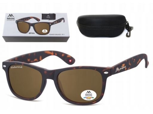 Duże okulary polaryzacyjne nerdy pantera + pudełko