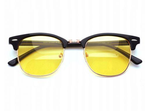 Okulary rozjaśniające dla kierowców półramki żółte