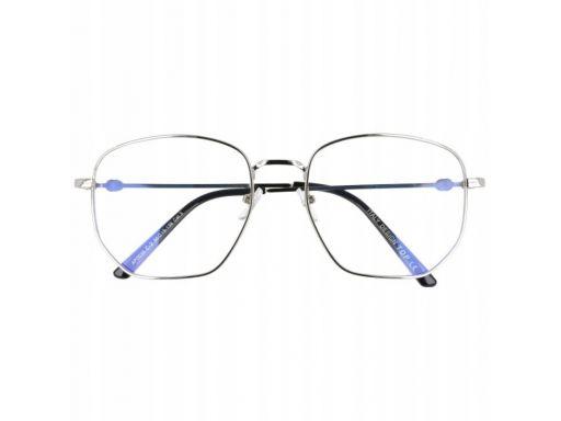 Okulary pilotki z filtrem niebieskim zerówki