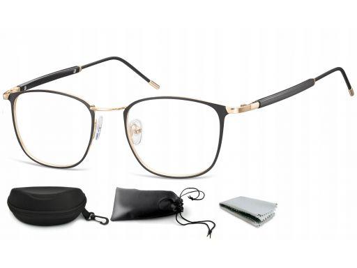 Okulary oprawki korekcyjne metalowe damskie męskie