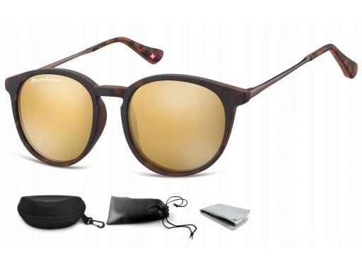 Okulary dziecięce przeciwsłoneczne lenonki lustra