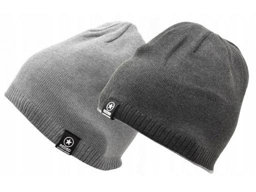 Męska czapka zimowa dwustronna l/xl akryl na zimę