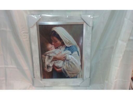Obraz matka boska z dzieciątkiem unikat grawer