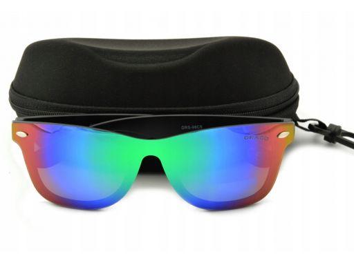 Okulary pełne lustro nerdy polaryzacyjne uniseks