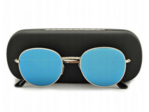 Okulary lenonki przeciwsłoneczne lustrzane uniseks