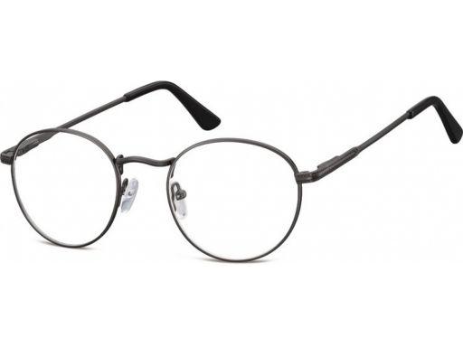 Okulary oprawki damskie męskie lenonki czarne stal