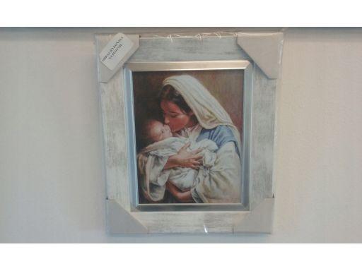 Obraz matka boska z dzieciątkiem płótno 40x50