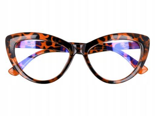 Kocie oczy antyrefleks zerowki okulary panterkowe