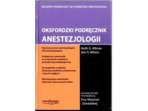 Oksfordzki podręcznik anestezjologii, j11
