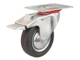 Koło kółka z hamulcem fi 100 do wózka regału 80kg