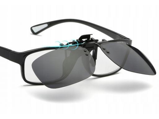 Nakładki polaryzacyjne okulary korekcyjne lustro
