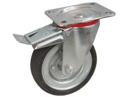 Koło kółka do wózka fi 80 obrotowe z hamulcem100kg