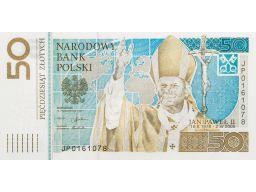 50 zł banknot jan paweł ii - 2006 poznań
