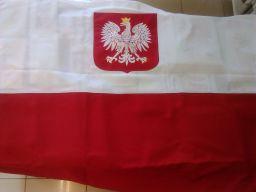 Flaga polski polska godło haft unikat