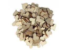 Scrapki serca serduszka drewniane decoupage 100szt