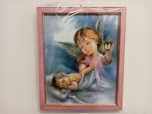 Obraz anioł aniołek różowy