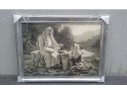 Obraz jezus u studni unikat unikat