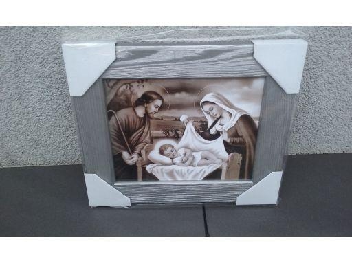 Obraz święta rodzina duży sepia