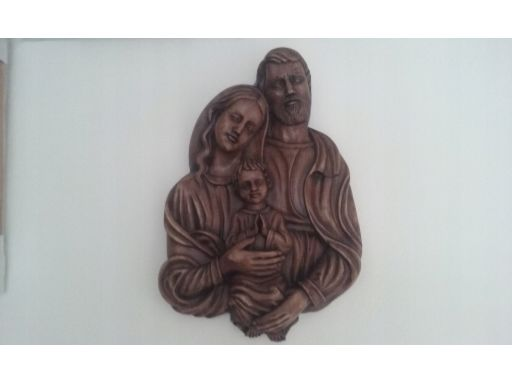 Płaskorzeźba święta rodzina unikat gratis