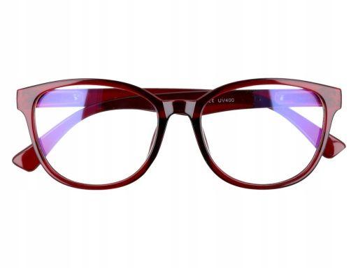 Okulary z antyrefleksem zerówki brązowe uniseks