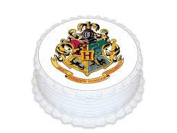 Bardzo gruby opłatek na tort harry potter 20 cm