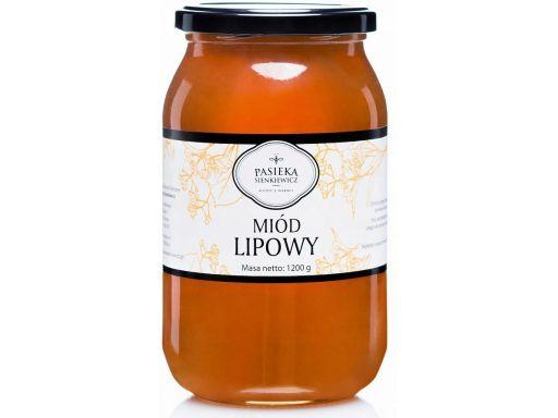Miód lipowy 1,2kg naturalny świeży smaczny zdrowy