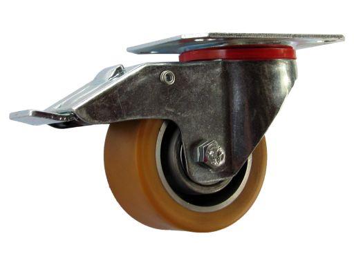 Kółka obrotowe z ham do wózka regału fi 80 150 kg