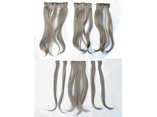 Włosy doczepiane treska zestaw 8 szt clip in 50 cm