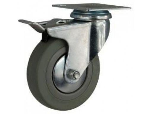 Koło kółka do wózka z hamulcem fi 50 na płytkę